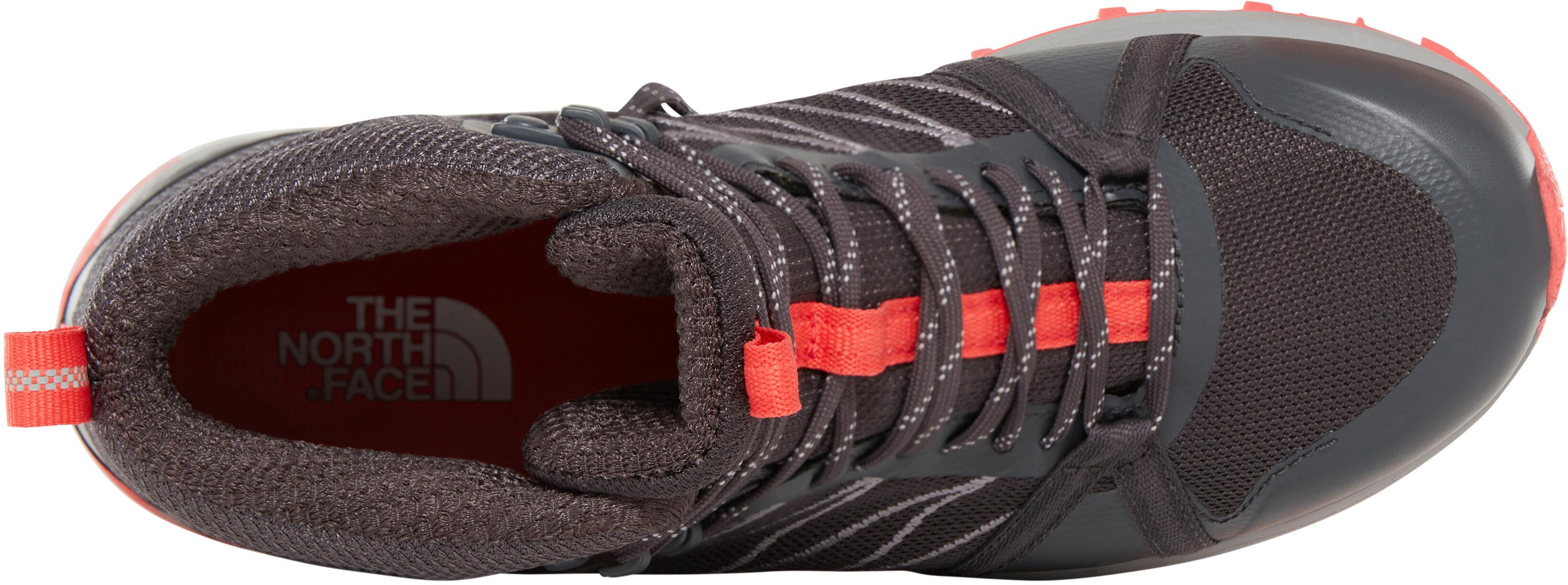 meet 5b161 82070 The North Face Litewave Fastpack II Mid GTX Shoes Women ebony grey/fiesta  red